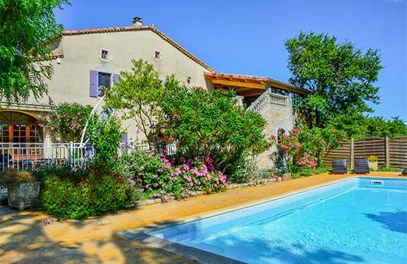 location gite avec piscine Ardèche